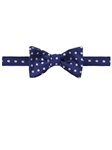 Robert Talbott Indigo Polka Dot Design Best Of Class Time Square Bow Tie 564242C-01 - Spring 2016 Collection Bow Ties and Sets | Sam's Tailoring Fine Men's Clothing