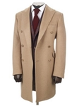 Hickey Freeman Camel Hair Double-Breasted Overcoat 55106702765 - Fall 2015 Collection Outerwear | Sam's Tailoring Fine Men's Clothing