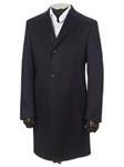 Hickey Freeman Navy Cashmere Overcoat 55104501711 - Fall 2015 Collection Outerwear | Sam's Tailoring Fine Men's Clothing