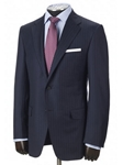 Hickey Freeman Navy Stripe Tasmanian Suit Addison Model 51304717A003 - Fall 2015 Collection Suits | Sam's Tailoring Fine Men's Clothing