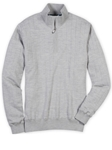 Bobby Jones Heather Grey Merino Quarter-Zip Wind Sweater BJL47003 - Fall 2016 Collection Sweaters | Sam's Tailoring Fine Men's Clothing