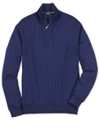 Bobby Jones Summer Navy Merino Quarter-Zip Wind Sweater BJL47003 - Fall 2016 Collection Sweaters | Sam's Tailoring Fine Men's Clothing