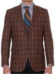 Brick Plaid Check Classic Fit Carmel Sport Coat P510CRJ0-01 - Robert Talbott Spring 2016 Collection Suits and Sport Coats - Custom and Ready-Made | Sam's Tailoring Fine Men's Clothing
