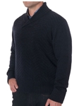 Robert Talbott Navy Seacliff II Shawl Collar Sweater LS721-05 - Fall 2015 Collection Sweaters | Sam's Tailoring Fine Men's Clothing