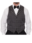 Robert Talbott Black with White Polka Dots Formal Wear Protocol Vest 464964S-01 - Formal Wear | Sam's Tailoring Fine Men's Clothing