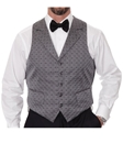 Robert Talbott Dark Grey with Grey Geometric Design Formal Wear Protocol Vest 471874S-03 - Formal Wear | Sam's Tailoring Fine Men's Clothing