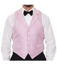 Robert Talbott Light Pink with Fuchsia Small Boxes Formal Wear Protocol Vest 471894S-03 - Formal Wear | Sam's Tailoring Fine Men's Clothing