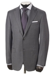Hickey Freeman Grey Sharkskin Super 170s Wish Suit 55302510B003 - Suits | Sam's Tailoring Fine Men's Clothing