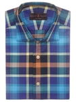 Robert Talbott Multi-Color Plaid Check Tailored Fit Crespi IV Sport Shirt TSM16S40-01 - Spring 2016 Collection Sport Shirts | Sam's Tailoring Fine Men's Clothing