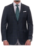 Robert Talbott Navy Melange with Windowpane Classic Fit Carmel Sport Coat S619CRJ0-01 - Spring 2016 Collection Suits and Sport Coats - Custom and Ready-Made | Sam's Tailoring Fine Men's Clothing