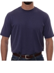 Robert Talbott Navy Turner Peached Jersey T-Shirt PK401-05 - Spring 2016 Collection Polo | Sam's Tailoring Fine Men's Clothing