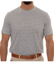 Robert Talbott Grey Stripe Turner Peached Jersey T-Shirt PK401-07 - Spring 2016 Collection Polo | Sam's Tailoring Fine Men's Clothing
