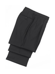 Wool Pleated Black Traveler Trouser | Hickey FreeMan Trousers Collection | Sams Tailoring