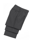 Wool Pleated Charcoal Traveler Trouser | Hickey FreeMan Trousers Collection | Sams Tailoring