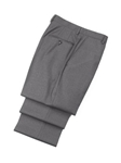 Wool Flat Front Grey Traveler Trousers | Hickey FreeMan Trousers Collection | Sams Tailoring