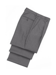 Wool Plated Grey Traveler Trousers | Hickey FreeMan Trousers Collection | Sams Tailoring