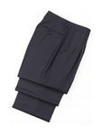Wool Plated Navy Traveler Trousers | Hickey FreeMan Trousers Collection | Sams Tailoring