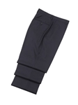 Wool Flat Front Navy Traveler Trousers | Hickey FreeMan Trousers Collection | Sams Tailoring
