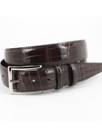 Genuine American Alligator Belt - Brown 50501 - Torino Leather Exotic Belts | Sam's Tailoring Fine Men's Clothing