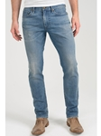 Medium Blue Pick Stitch Dean Skinny Jean - Casablanca |  Eight Field of Freedom Skinny Jeans Collection 2016 | Sams Tailoring