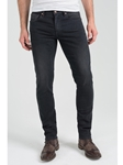 Dark Pick Stitch Dean Skinny Jean - Noir |  Eight Field of Freedom Skinny Jeans Collection 2016 | Sams Tailoring