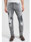 Grey Pick Stitch Dean Skinny Jean - Dirty Rebel |  Eight Field of Freedom Skinny Jeans Collection 2016 | Sams Tailoring