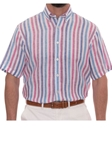 Robert Talbott Pink Boardwalk Classic Fit Sport Shirt Short Sleeve PMB16094-01 - Spring 2016 Collection Sport Shirts | Sam's Tailoring Fine Men's Clothing