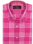 Pink and White Plaid Sport Shirt TSM16074-01 - Robert Talbott Spring 2016 Collection Suits and Sport Coats - Custom and Ready-Made | Sam's Tailoring Fine Men's Clothing