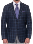 Robert Talbott Navy with Windowpane Classic Fit Carmel Sport Coat S626CRJ0-01 - Spring 2016 Collection Suits and Sport Coats - Custom and Ready-Made | Sam's Tailoring Fine Men's Clothing