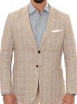 Marine Linen Woven Plaid Soft Jacket JKT92-01 - Robert Talbott Outerwear Spring2016 Collection | Sam's Tailoring Fine Men's Clothing