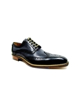 Black-Antracite Veloce Wingtip Shoe| Jose Real Men's collection 2016 | Sams Tailoring