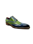 Jeans-Green Veloce Wingtip Shoe| Jose Real Men's collection 2016 | Sams Tailoring