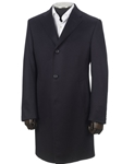 Navy 3 Button Cashmere OverCoat | Hickey Freeman New Coats Collection | Sams Tailoring
