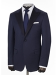 Navy Peak Lapel Tasmanian Tuxedo | Hickey Freeman New Coats Collection | Sams Tailoring