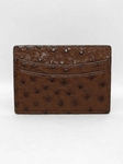 Torino Leather Genuine Ostrich Cardcase - Brown 98501 - Spring Collection 2016 Leather Wallets | Sam's Tailoring Fine  Men's Clothing