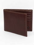 Brown Tumbled Glove Leather Billfold Wallet |  Torino Leather's Wallet collection | Sams Tailoring