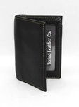 Black Tumbled Glove Leather Gusseted Card Case Wallet|  Torino Leather's Wallet collection | Sams Tailoring