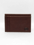 Brown Tumbled Glove Leather ID/Card Case Wallet|  Torino Leather's Wallet collection | Sams Tailoring