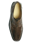Belvedere Brown Marco Genuine Ostrich Leather Shoes 714 -