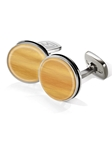 Bamboo Bordered Round Cufflink | M-Clip New Cufflinks Collection 2016 | Sams Tailoring