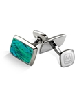 Teal Angel Wing Tapered Rectangle Cufflink | M-Clip New Cufflinks Collection 2016 | Sams Tailoring