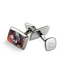 Orange Abalone Tapered Rectangle Cufflink | M-Clip New Cufflinks Collection 2016 | Sams Tailoring