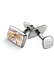 Yellow Abalone Tapered Rectangle Cufflink | M-Clip New Cufflinks Collection 2016 | Sams Tailoring