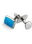 Blue PVD Inlay Cufflink | M-Clip New Cufflinks Collection 2016 | Sams Tailoring