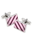Pink, Black, & White Rep Tie Cufflinks | M-Clip New Cufflinks Collection 2016 | Sams Tailoring