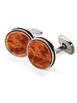 Bubinga Bordered Round Cufflink  | M-Clip New Cufflinks Collection 2016 | Sams Tailoring