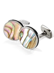 Yellow Abalone Bordered Round Cufflink  | M-Clip New Cufflinks Collection 2016 | Sams Tailoring