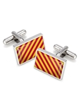 Crimson and Yellow Team Stripes Inlay Cufflink | M-Clip New Cufflinks Collection 2016 | Sams Tailoring