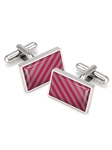 Red & Gray Team Stripes Inlay Cufflink  | M-Clip Cufflink Collection 2016 | Sams Tailoring