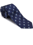 Robert Talbott Navy with Yellow Medallions Heritage Best of Class Tie 57444E0-04 - Spring 2016 Collection Best Of Class Ties | Sam's Tailoring Fine Men's Clothing
